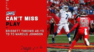 Jacoby Brissett Goes DEEP to Marcus Johnson