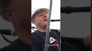 Viral Video UK: Bagpiping it on a zip line