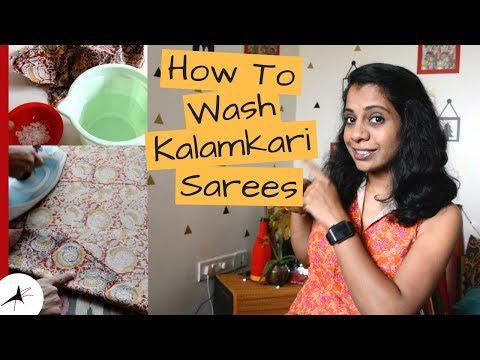 How To Wash Kalamkari Saree To Avoid Fading | How To Preserve Kalamkari | Arpitharai