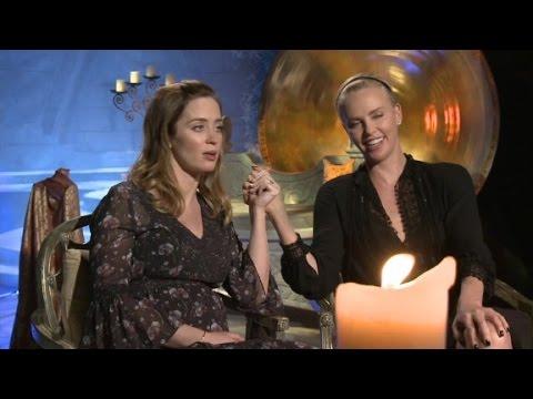 "Charlize Theron & Emily Blunt talk ""Huntsman..."