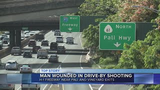 Man in serious condition after drive-by shooting on Pali Highway