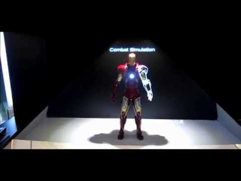 Hot toys Ironman 3 Holographic showcase
