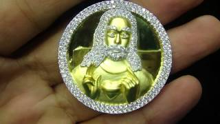 Custom Unique Double Sided Custom Jesus & Mother Mary Pendant Item No: DP02