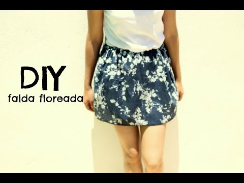 DIY falda floreada