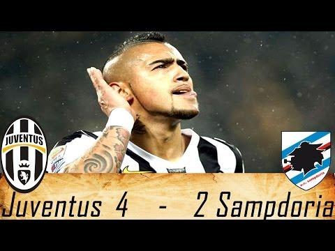 Juventus-Sampdoria 4-2 Highlights 19/01/2014