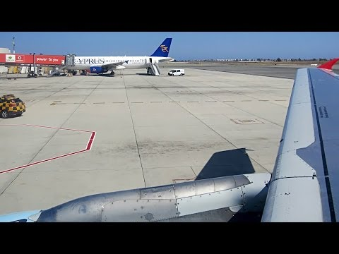 ☆ Austrian Airlines / Airbus A321 / Taxi and take-off from Larnaca International Airport ☆ [HD]