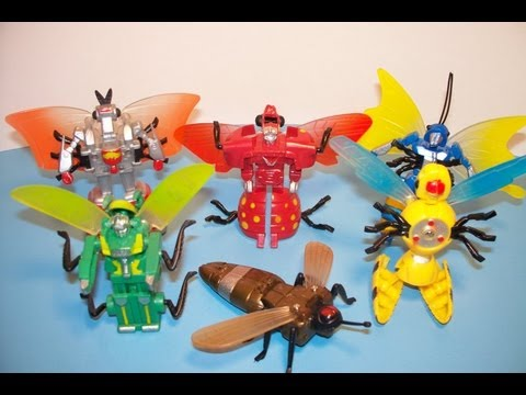 1991 INSECTO-BOTS SET OF 6 TRANSFORMERS TOY REVIEW