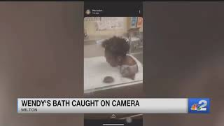 Viral video shows Florida man bathing in a Wendy's sink