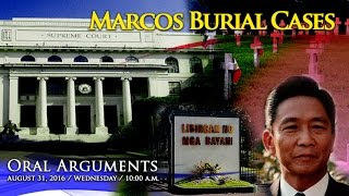 Oral Arguments on Former President Ferdinand E. Marcos Burial Case