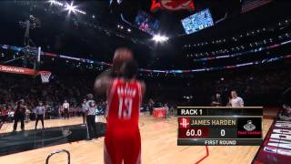 Three Point Contest: James Harden - Round 1 | February 13, 2016 | NBA All-Star 2016