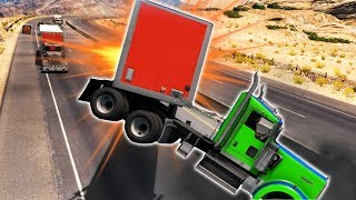 HIGH SPEED MULTI FREIGHT TRUCK COLLISION! (American Truck Simulator Gameplay Roleplay) Truck Crashes