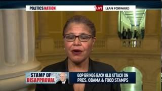 MSNBC: Rep. Karen Bass discusses Dick Cheney's comments about President Obama and (food stamps)  2/26/14