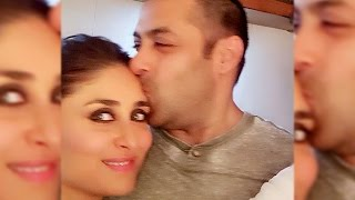 Salman Khan's Big Kiss To Kareena Kapoor Khan : Awww moment!
