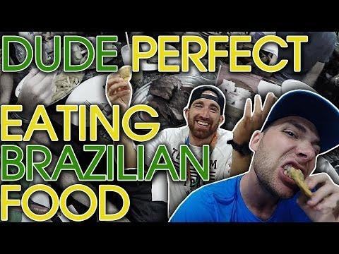 Gourmet Hot Pockets? | DUDE PERFECT Tries Brazilian Food!