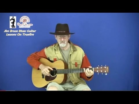 Youtube Guitar Lessons with Jim Bruce - Play Blues Lightnin' Hopkin's Style Music Videos