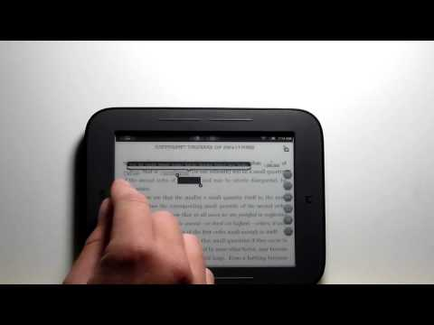 Nook Touch PDF Review - Stock and Rooted with Android Apps