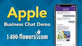 Apple Business Chat Demo (1-800-Flowers)