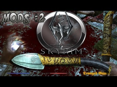 Skyrim Mods | Part 2| New Weapon, More blood textures!
