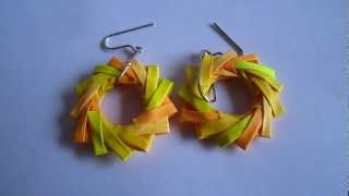 Paper Jewelry - Handmade Origami Wreath Earrings