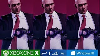 [4K] Hitman 2 - PS4 Pro vs Xbox One X vs PC Comparison, Engine Analysis!