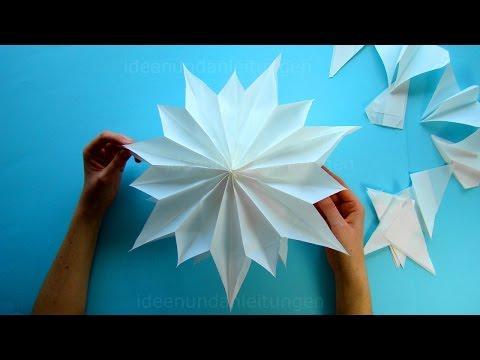 Sterne Basteln Mit Papier Butterbrottüten Zu Weihnachten Diy
