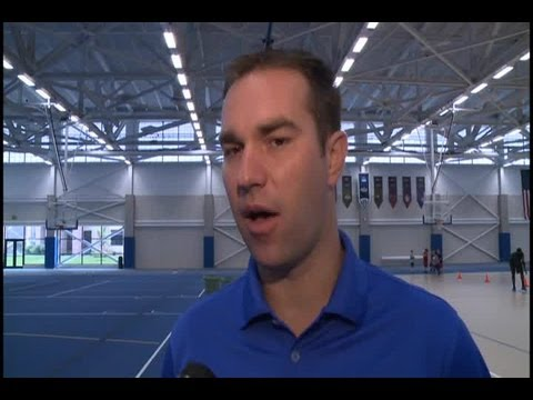 IPFW basketball coach Tony Jasick at camp