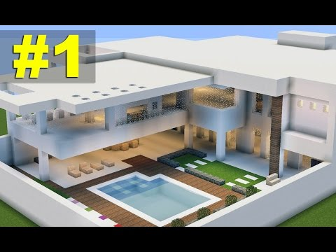 Minecraft Tutorial: Casa Moderna 7 parte 1