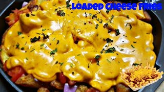 Cheese Fries Recipe | Loaded Cheese Fries | Qitchen Delights