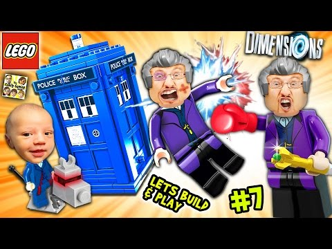 Lets Build & Play LEGO Dimensions #7: DR. WHO!? FGTEEV Duddy Goes Back In Time w/ Tardis!  K-9 FARTS