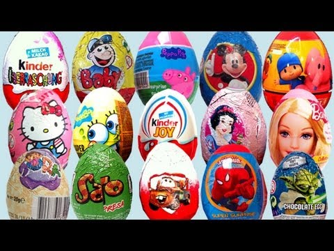 Surprise eggs collection toys Kinder Surprise Disney Pixar eggs by lababymusica