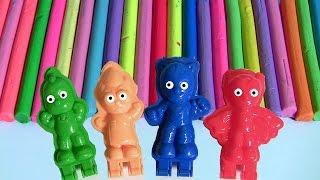 Massinhas Softee Dough PJ Masks Heróis de Pijama 3D Maker Mold 'n Play