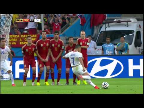 [HD] Spain 0-2 Chile Charles Aranguiz FIFA World Cup 2014