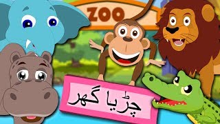 Abba Chidiya Ghar Le Jana | چڑیا گھر | Zoo Song in Urdu | Rhymes Collection for Kids