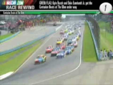 National Association  Stock  Auto Racing Worst Wreck on Big Nascar Crash Watkins Glen 2008