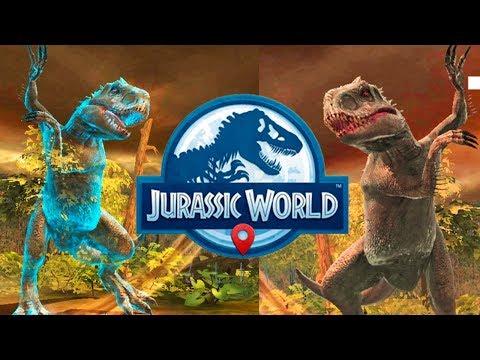 Индоминус Рекс Невидимка против Тираннозавра и динозавров Jurassic World Alive