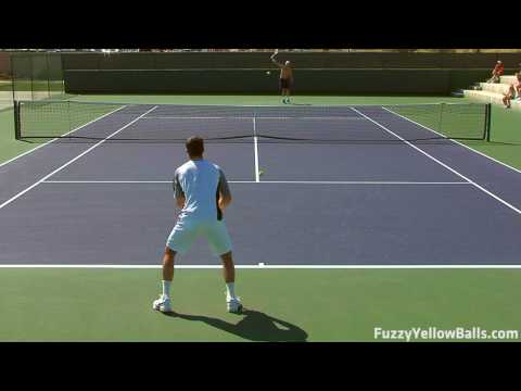 Radek Stepanek hitting in High Definition Video