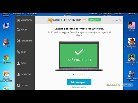 Como descargar e instalar AVAST FREE ANTIVIRUS 2015 + Archivo de licencia.