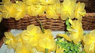 Искусственные цветы своими руками их капрона