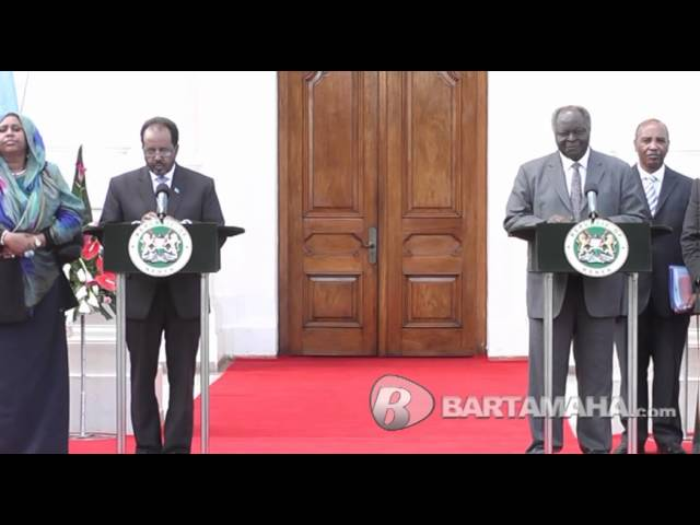 Presidents of Somalia and Kenya issue a Joint Communique Fri, 21st Dec, 2012 [ Bartamaha.com ]