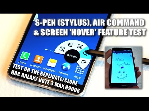 S-PEN/STYLUS & AIR COMMAND on the HDC GALAXY Note 3 MAX N9006 (Black) MTK6589 / BEST NOTE 3 CLONE