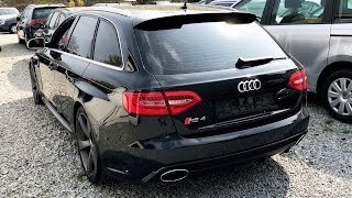 AUDI RS4 B8 V8 EXTREME BRUTAL EXHAUST SOUND - STRAIGHT PIPE FLAP COLD START