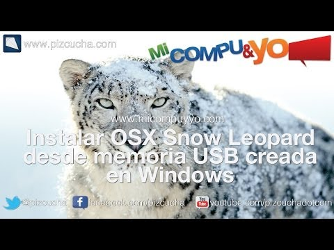Memoria USB booteable para mac desde windows para instalar OSX Snow Leopard