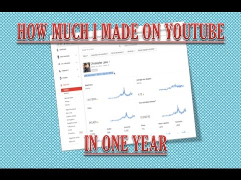 How much Money I made on YouTube with AdSense Earnings in a Year...