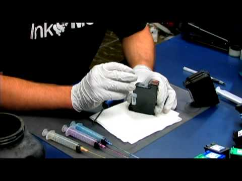HP Printer Cartridges : How to Refill Ink Cartridges in the HP 970CXI Printer