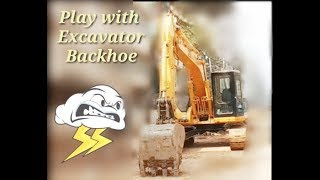Excavator Truck toys for Kids - Toy car Unboxing and Playing Backhoe Tractor