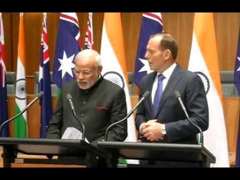 Narendra Modi, Tony Abbott hold joint press conference