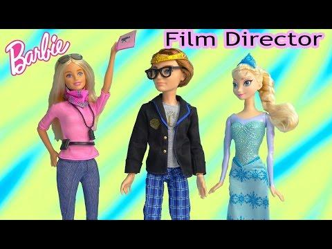 Barbie Doll Movie Film Director Toy Review Playing on set Disney Frozen Queen Elsa Ever After High