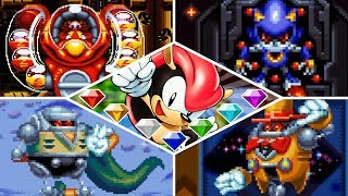 Sonic Mania Plus - SUPER MIGHTY VS ALL BOSSES! (Switch, Xbox One, PS4, PC)