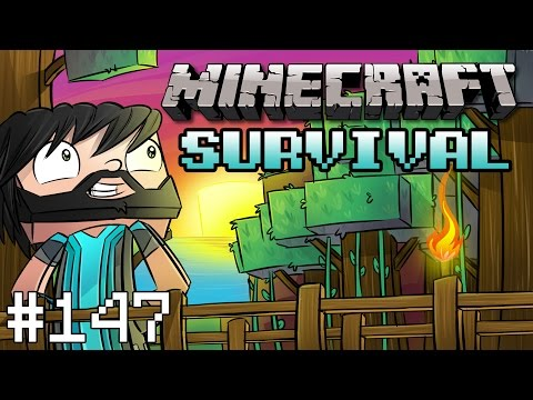 Minecraft : Survival - Part 147 - Rail Station Complete!