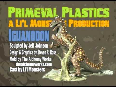Monster Model Review #80 the Iguanodon by Primeval Plastics Video